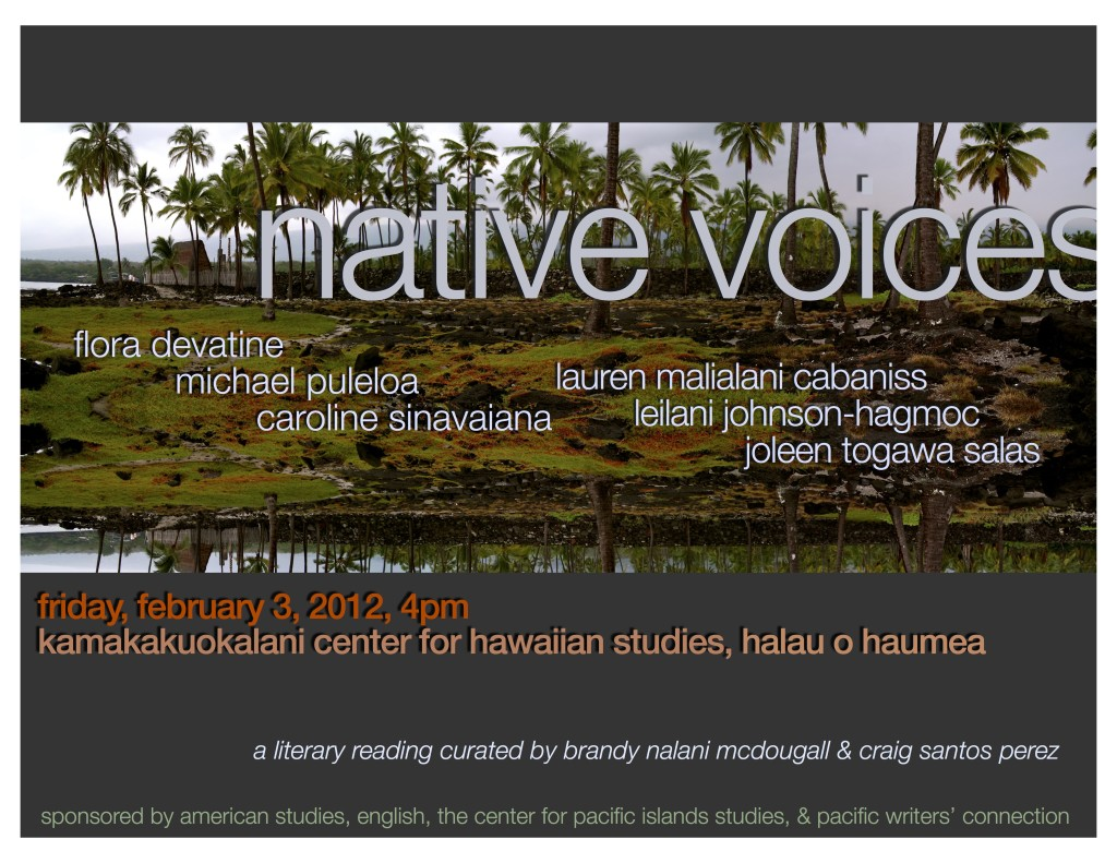 Native Voices Feb 2012 poster